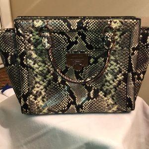 Michael Kors snake skin handbag.